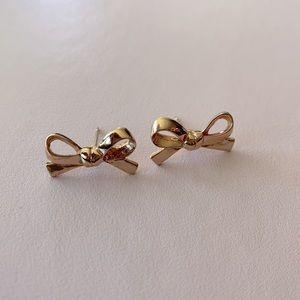 Kate Spade Rose Gold Bow Earrings
